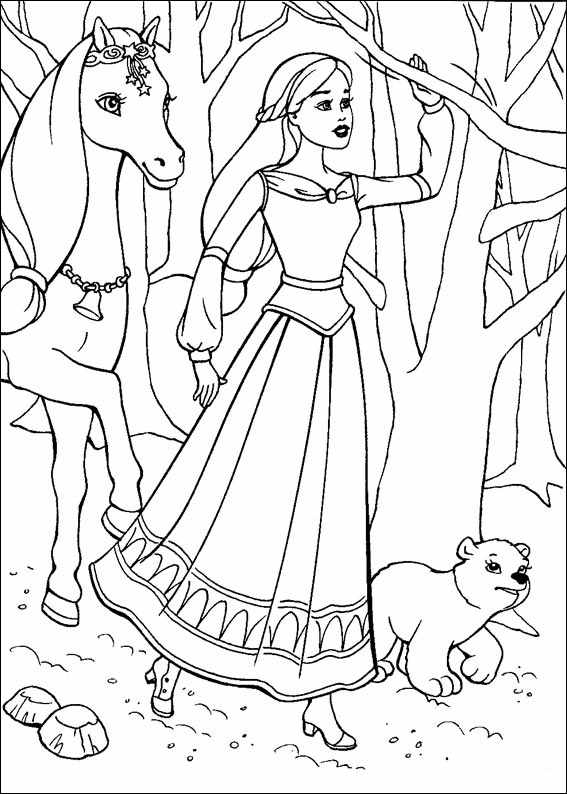 Barbie and The Magic Pegasus Books Coloring 5
