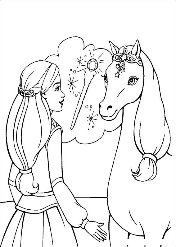 Barbie and The Magic Pegasus Books Coloring 6