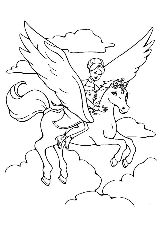 Barbie and The Magic Pegasus Books Coloring 8
