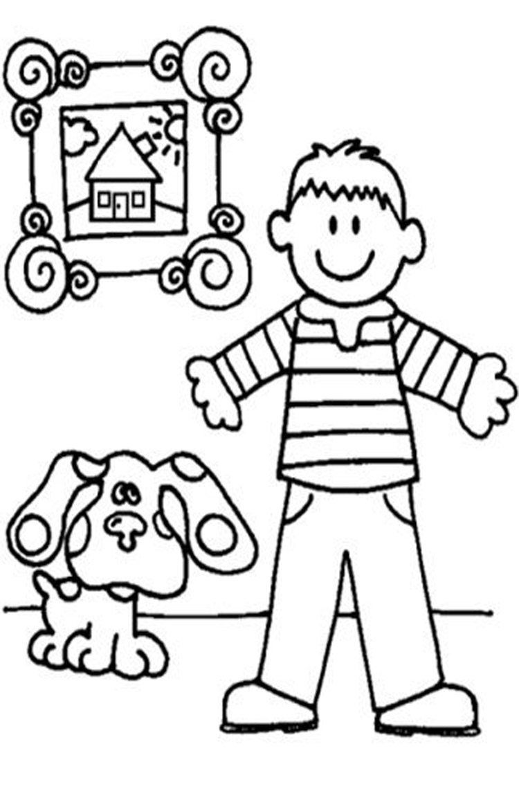 Online coloring book games - Blue S Clues Blue S Clues Games Videos Coloring Pages Nick Jr