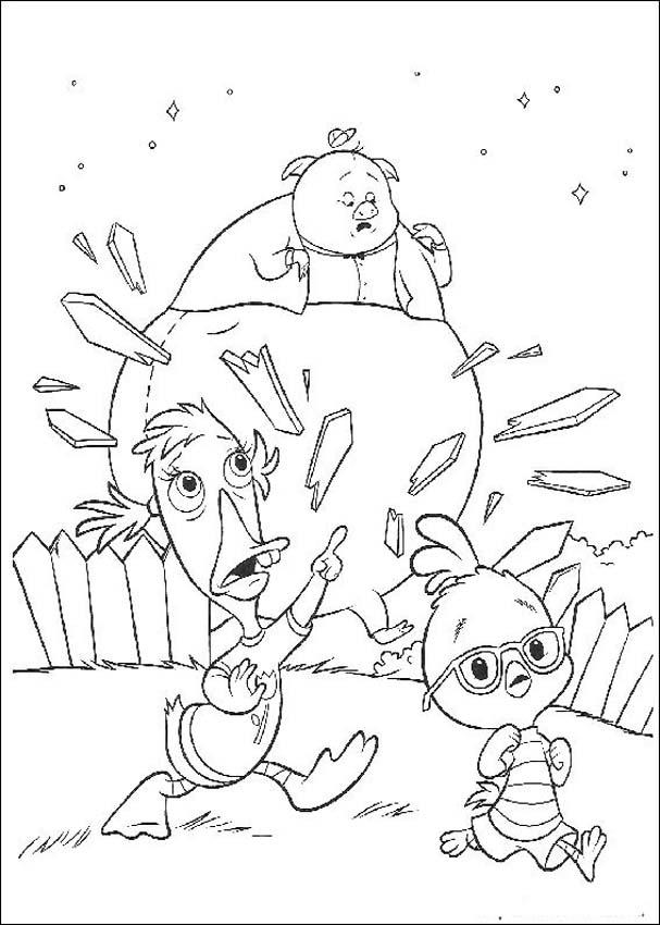 Chicken Little Books Coloring 1