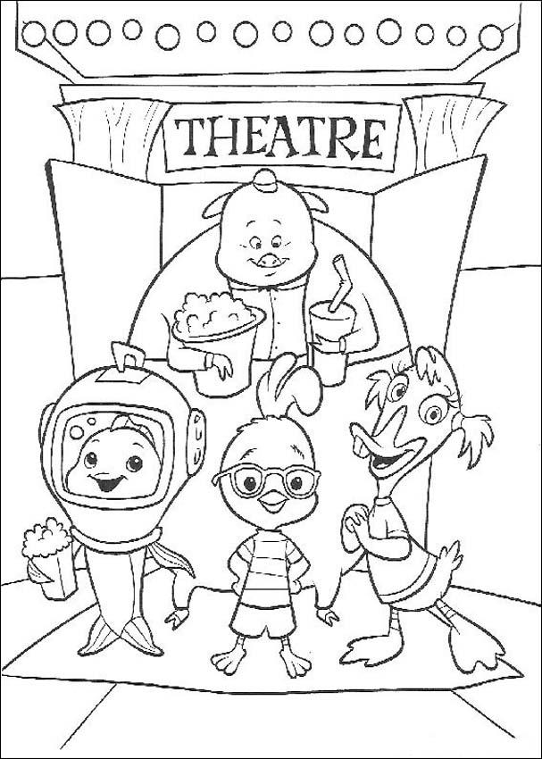 Chicken Little Books Coloring 4