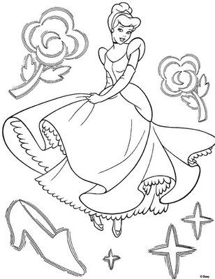 Cinderella 2 Books Coloring 8