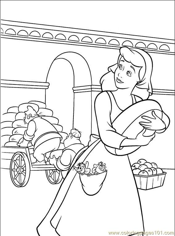 Cinderella 3 Books Coloring 1