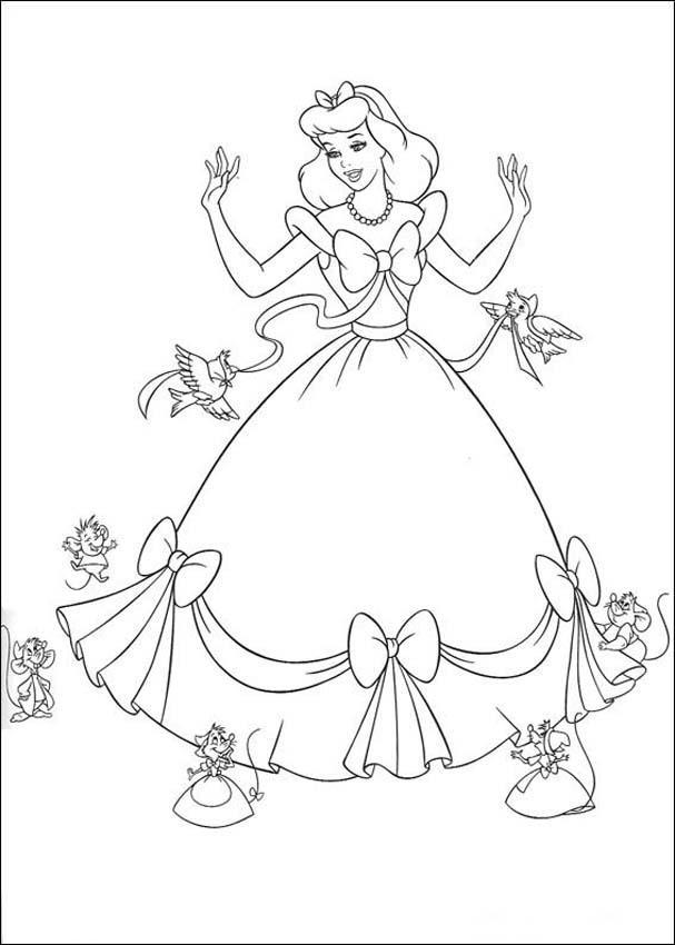 Cinderella 3 Books Coloring 3