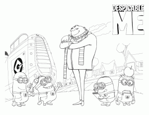 Despicable Me Books Coloring 7