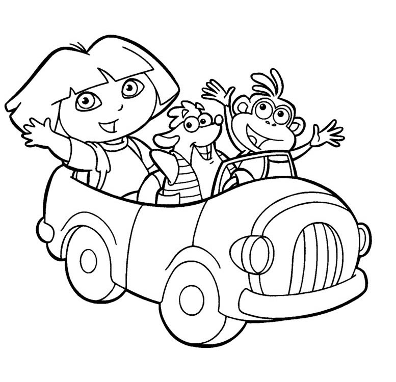 Dora Coloring Pages 8