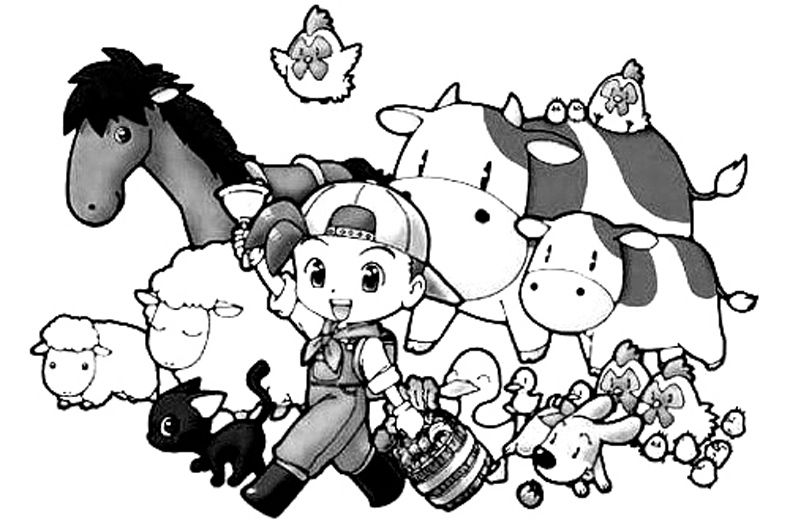 Harvest Moon Books Coloring 1