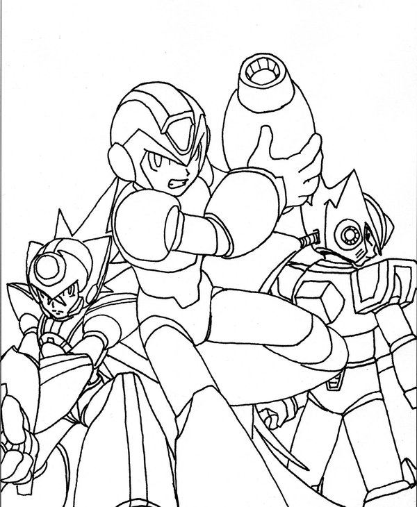 Megaman ZX Books Coloring 3