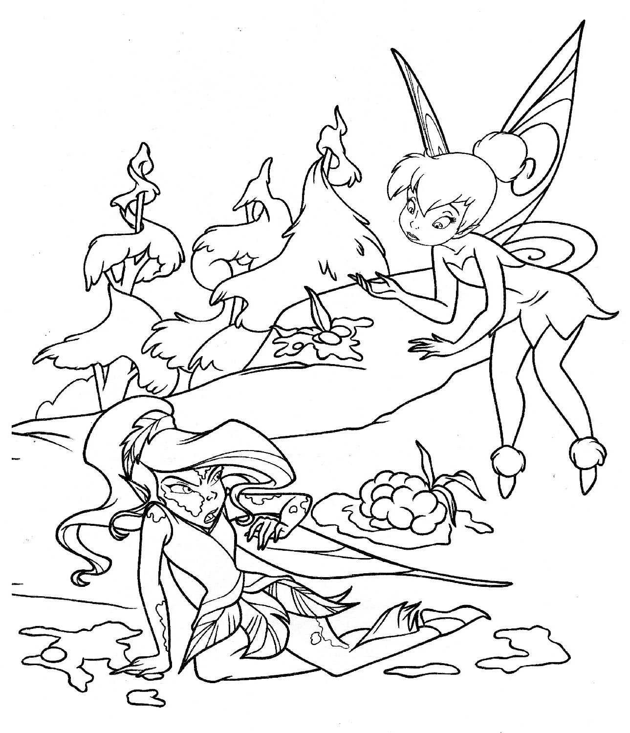 Tinkerbell Coloring Pages 5
